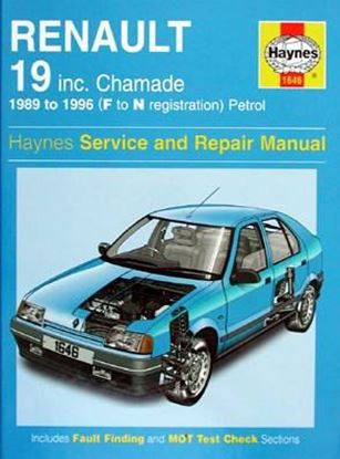 Picture of RENAULT 19 inc. CHAMADE 1989 to 1996 PETROL SERVICE AND REPAIR MANUAL N. 1646