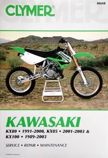 Immagine di KAWASAKI KX80 1991-2000, KX85 2001-2003 & KX100 1989-2003 CLYMER REPAIR MANUALS M448