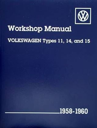 Picture of VOLKSWAGEN TYPES 11, 14 E 15 1958-1960 WORKSHOP MANUAL