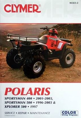 Picture of POLARIS SPORTSMAN 400 500 XPLORER 500 1996-2003 CLYMER REPAIR MANUALS M365-2