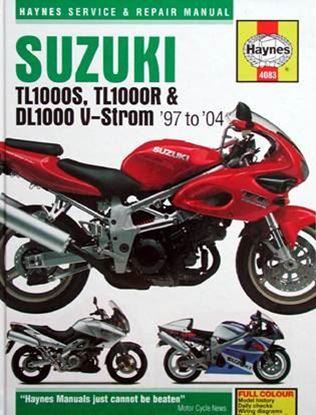 Picture of SUZUKI TL1000S, TL1000R & DL1000 V-Strom '97 to '04 SERVICE & REPAIR MANUAL N. 4083