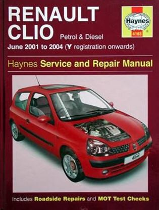 Immagine di RENAULT CLIO PETROL & DIESEL June 2001 to 2004 SERVICE AND REPAIR MANUAL N. 4168