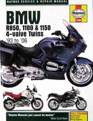 Immagine di BMW R850 1100 & 1150 4 VALVE TWINS 1993/2006 N.E. SERVICE & REPAIR MANUAL N. 3466