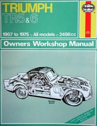 Picture of TRIUMPH TR5 & 6 1967 thru 1975 ALL MODELS CLASSIC REPRINT OWNERS WORKSHOP MANUAL NR. 031