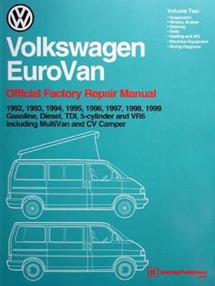 Picture of VW EUROVAN 1992-1999: OFFICIAL FACTORY REPAIR MANUAL VOL. 1 + 2
