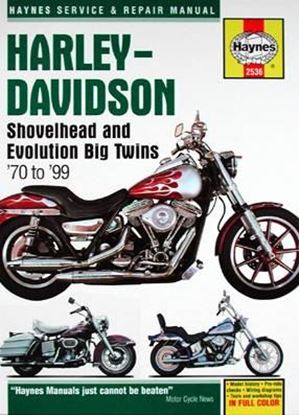 Immagine di HARLEY-DAVIDSON SHOVELHEAD AND EVOLUTION BIG TWINS 1970/99 OWNERS WORKSHOP MANUAL N. 2536