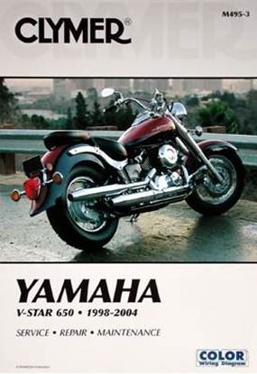 Picture of YAMAHA V-STAR 650 1998-2004 CLYMER REPAIR MANUALS M495-3