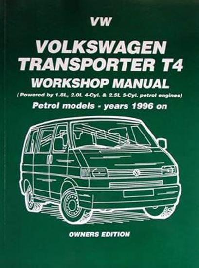 Immagine di VW TRANSPORTER T4 WORKSHOP MANUAL PETROL MODELS - YEARS 1996 ON