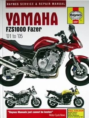Picture of YAMAHA FZS1000 FAZER 2001 TO 2005 OWNERS WORKSHOP MANUAL N. 4287