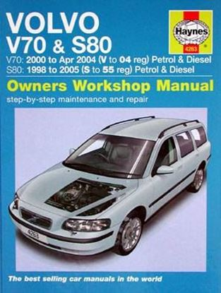 Immagine di VOLVO V70 E S80 2000 TO 2005 PETROL E DIESEL OWNERS WORKSHOP MANUAL N. 4263