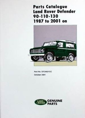 Picture of LAND ROVER DEFENDER 90-110-130 1987 TO 2001 PARTS CATALOGUE (PART No. STC9021CC October 2001)