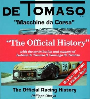 Immagine di DE TOMASO MACCHINE DA CORSA THE OFFICIAL RACING HISTORY