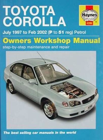 Picture of TOYOTA COROLLA July 1997 to Feb 2002 PETROL - OWNERS WORKSHOP MANUALS N. 4286