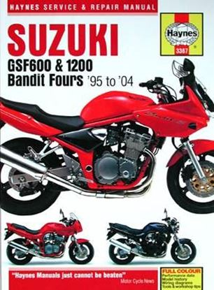 Picture of SUZUKI GSF 600 & 1200 BANDIT FOURS 1995-2004 N.E. SERVICE & REPAIR MANUAL N. 3367