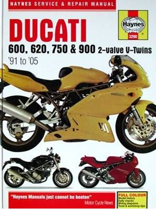 Picture of DUCATI 600, 620, 750 & 900 2-valve V-twins '91 to '05 N.E. SERVICE & REPAIR MANUAL N. 3290