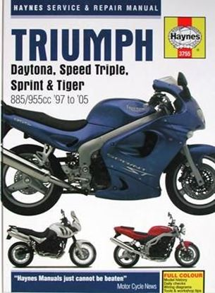 Immagine di TRIUMPH DAYTONA, SPEED TRIPLE, SPRINT & TIGER 885/955cc '97 to '05 SERVICE & REPAIR MANUAL N. 3755