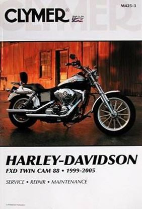 Picture of HARLEY-DAVIDSON FXD TWIN CAM 88 1999-2005 CLYMER REPAIR MANUALS M425-3