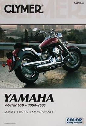 Picture of YAMAHA V-STAR 650 1998-2005 CLYMER REPAIR MANUALS M495-4