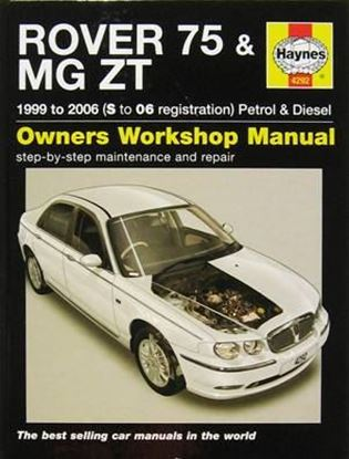 Picture of ROVER 75 & MG ZT PETROL & DIESEL 1999 to 2006 (S to 06 registration) OWNERS WORKSHOP MANUALS N. 4292