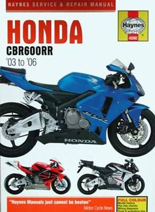 Picture of HONDA CBR 600 RR 2003 TO 2006 SERVICE & REPAIR MANUAL N. 4590