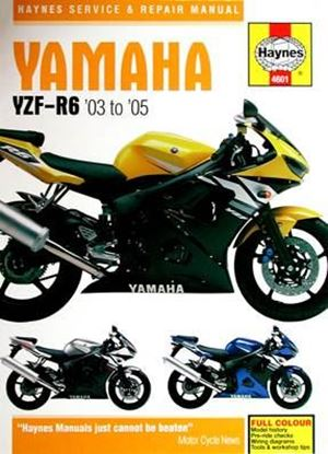 Immagine di YAMAHA YZF-R6 '03 to '05 SERVICE & REPAIR MANUAL N. 4601