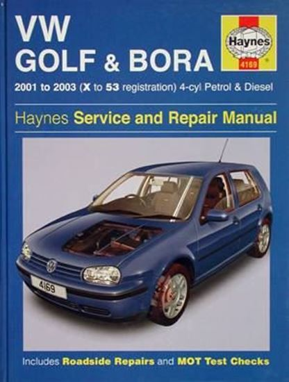 Picture of VW GOLF & BORA 2001 to 2003 4-cyl PETROL & DIESEL SERVICE AND REPAIR MANUAL N. 4169