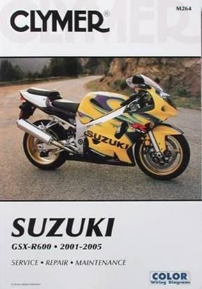 Picture of SUZUKI GSX-R600 2001-2005 CLYMER REPAIR MANUAL M264