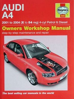 Picture of AUDI A4 2001 TO 2004 4-cyl PETROL & DIESEL OWNER WORKSHOP MANUAL N. 4609