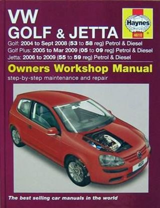 Immagine di VW GOLF & JETTA – GOLF 2004 to Sept 2008 PETROL & DIESEL – JETTA 2006 to aug 2009 PETROL & DIESEL OWNERS WORKSHOP MANUAL N. 4610