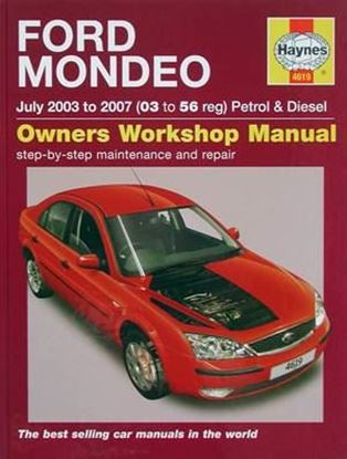 Picture of FORD MONDEO July 2003 to 2007 PETROL & DIESEL OWNERS WORKSHOP MANUAL N. 4619