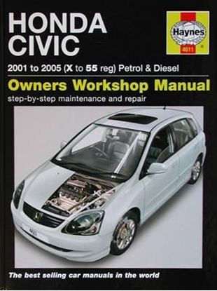 Immagine di HONDA CIVIC 2001 to 2005 PETROL & DIESEL OWNERS WORKSHOP MANUAL N. 4611