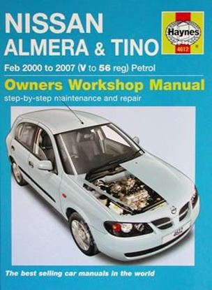 Picture of NISSAN ALMERA & TINO Feb 2000 to 2007 PETROL OWNERS WORKSHOP MANUAL N. 4612