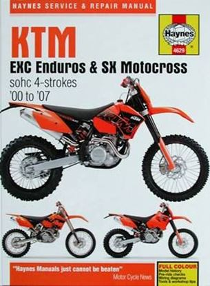 Immagine di KTM EXC ENDUROS & SK MOTOCROSS SOHC 4-STROKES 2000 to 2007 SERVICE AND REPAIR MANUAL N. 4629