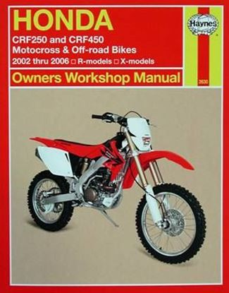 Immagine di HONDA CRF250 and CRF450 MOTOCROSS & OFF-ROAD BIKES 2002 to 2006 R-models X-models SERVICE AND REPAIR MANUAL N. 2630