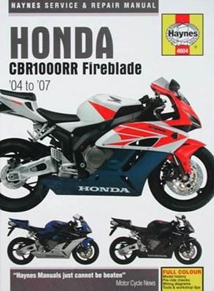 Immagine di HONDA CBR1000RR Fireblade 2004 to 2007 SERVICE AND REPAIR MANUAL N. 4604