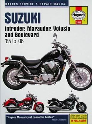 Immagine di SUZUKI INTRUDER, MARAUDER, VOLUSIA AND BOULEVARD 1985 to 2006 SERVICE AND REPAIR MANUAL N. 2618