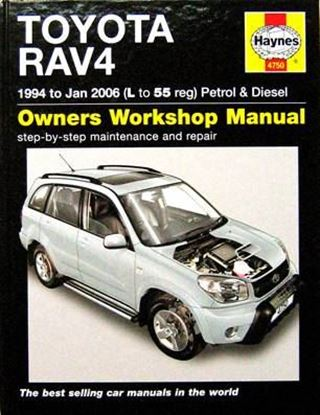 Picture of TOYOTA RAV4 1994 to Jan 2006 (L to 55 reg) PETROL & DIESEL OWNERS WORKSHOP MANUAL N. 4750