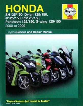Immagine di HONDA SH 125/150 DYLAN 125/150 PANTHEON 125/150 S-WING 125/150 2000-2009 SERVICE AND REPAIR MANUAL N. 4873