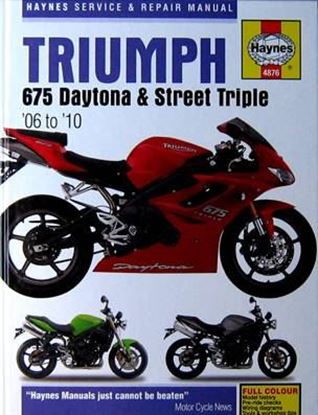 Picture of TRIUMPH 675 DAYTONA & STREET TRIPLE 2006-2010 SERVICE AND REPAIR MANUAL N. 4876