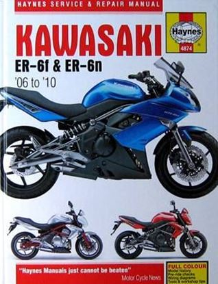 Picture of KAWASAKI ER 6F & ER 6N 2006-2010 SERVICE AND REPAIR MANUAL N. 4874