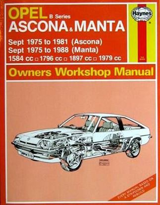 Picture of OPEL ASCONA & MANTA B SERIES 1975-1986 OWNERS WORKSHOP MANUAL N. 316