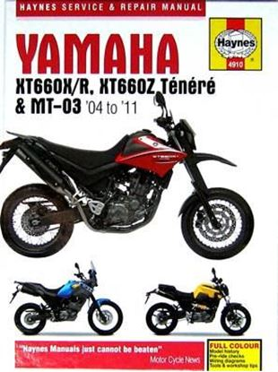 Picture of YAMAHA XT660X/R, XT660Z TENERE & MT-03 2004 TO 2011 SERVICE & REPAIR MANUAL N° 4910