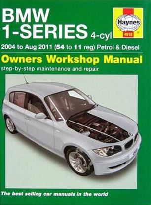 Immagine di BMW 1-SERIES 4-CYL 2004 TO AUG 2011 PETROL & DIESEL - OWNER WORKSHOP MANUAL N. 4918