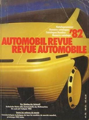 Picture of AUTOMOBIL REVUE 1982