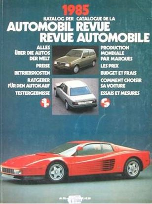 Picture of AUTOMOBIL REVUE 1985
