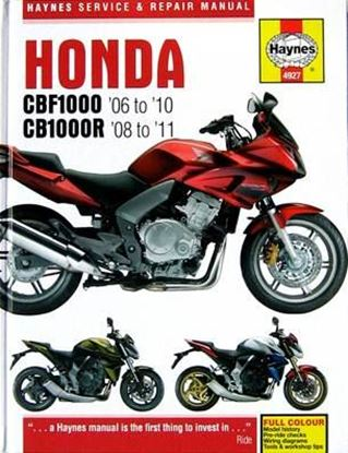Immagine di HONDA CBF 1000 2006/10 CB 1000R 2008/11 SERVICE & REPAIR MANUAL N. 4927