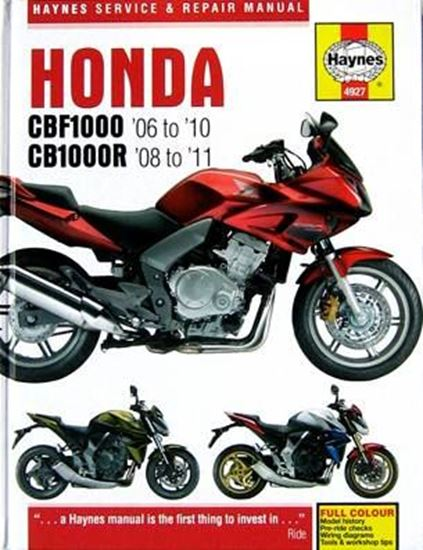 Picture of HONDA CBF 1000 2006/10 CB 1000R 2008/11 SERVICE & REPAIR MANUAL N. 4927