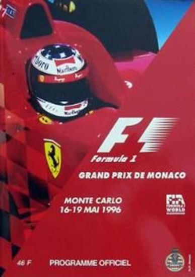 Picture of FORMULA 1 GRAND PRIX DE MONACO MONTE CARLO 16-19 MAI 1996 PROGRAMME OFFICIEL