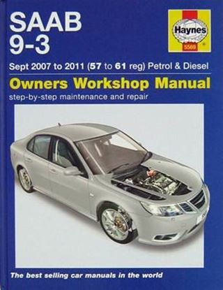Picture of SAAB 9-3 Sept. 2007 to 2011 (57 to 61 REG) PETROL & DIESEL OWNER WORKSHOP MANUAL N. 5569