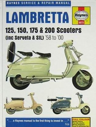 Immagine di LAMBRETTA 125 150 175 & 200 SCOOTERS (INC SERVETA & SIL) 1958 TO 2000 SERVICE & REPAIR MANUAL N. 5573